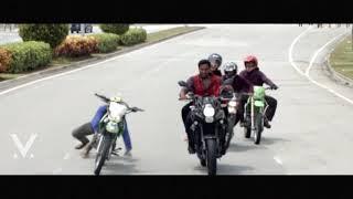 Vishnu Manchu Bike Accident Video  in Malaysia | Achari America Yatra