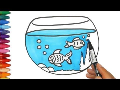 Gambar Menggambar Tangki Ikan Mewarnai Tv Anak Smotret Video Onlajn