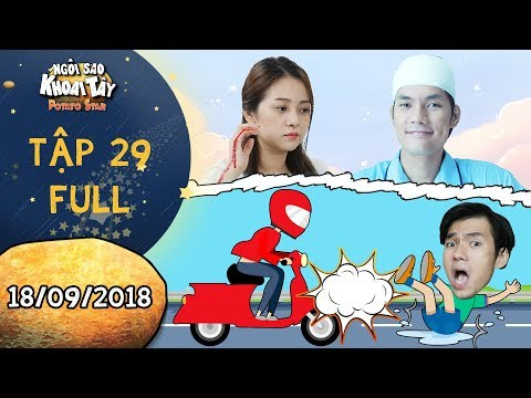Ngôi sao khoai tây |tập 29 full: Song Nghi hốt hoảng khi Khánh Toàn bị tai nạn vì liều thân cứu mình