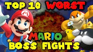Top 10 WORST Mario BOSS FIGHTS!