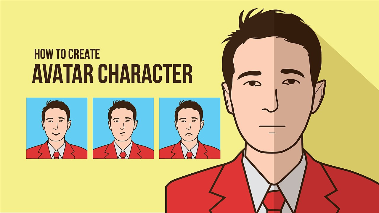 Character Design Tutorial Free : Free making your face avatar character flat style