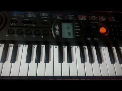 Sabarmati Ke Sant On  Keyboard piano Casio Easy tutorials Notes