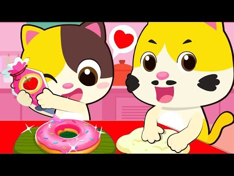 Yum Yum Donuts Song  Learn Colors  Color Song  Ice Cream  Nursery Rhymes  Kids Songs  BabyBus