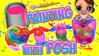 LOL Surprise Dolls Painting with Posh, Rainbow Mermaid! W Sugar & Sugar Queen!   LOL Dolls Families