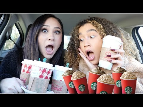 TRYING EVERY SINGLE STARBUCKS HOLIDAY DRINK w/ Franny Arrieta