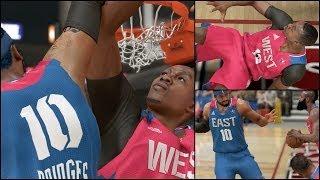 NBA 2k14 MyCAREER PS4 Gameplay - All-Star Game Bridges Ends Dwight Howards Career | Crazy Alley Oops