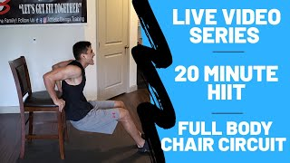 home workout - 20 min full body home workout // Chair needed only
