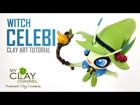 Halloween Pumpkin Parade - Mythical Pokemon - Witch Celebi - Clay Art Tutorial thumbnail
