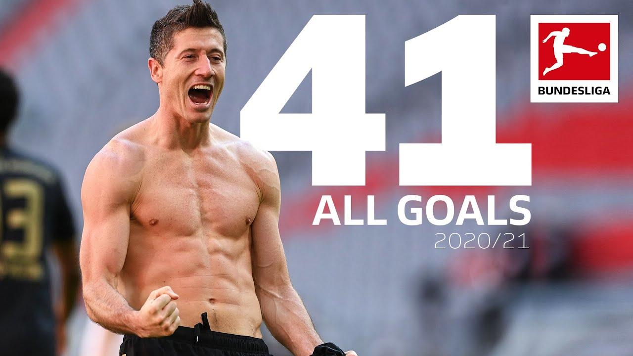Robert Lewandowski - All Bundesliga Goals 2020/21