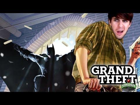 BATMAN IN GTA5 ROBBERY SPREE (Grand Theft Smosh)
