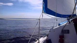 Quiet Time Sailing 1-29-12.  Ericson 27
