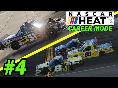 SUPER CLOSE FINISH!!!!! [NASCAR Heat 2 Career Mode]