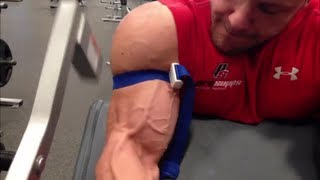 Occlusion BFR Biceps Workout PRObliner Style with Trench Fitness Squats