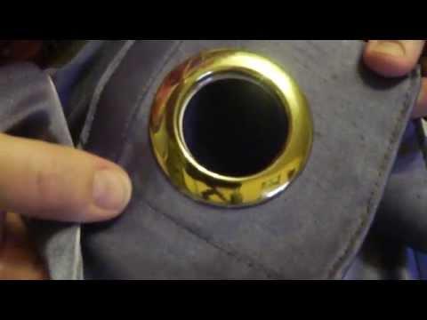Как крепить кольца на шторы