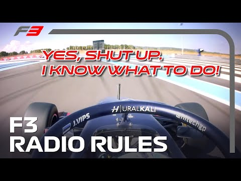 Formula 3: The Rules of Radio!