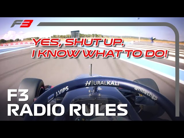 Formula 3: The Rules of Radio!