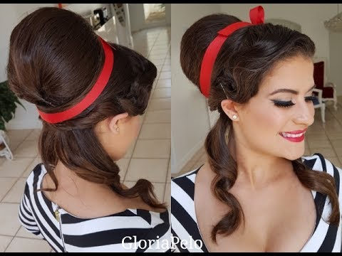 Big Bun (Retro Style) Vintage Style (Moño Grande) Look for Pictures