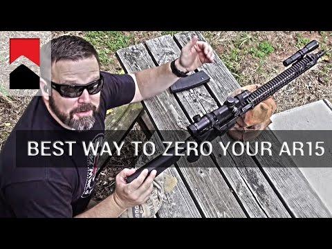 The Best Way to Zero Your AR15
