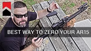 The Best Way to Zero Your AR15