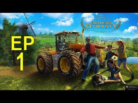 Let's Play Farmer's Dynasty Ep 1 rebuilding Grandpa's Farm