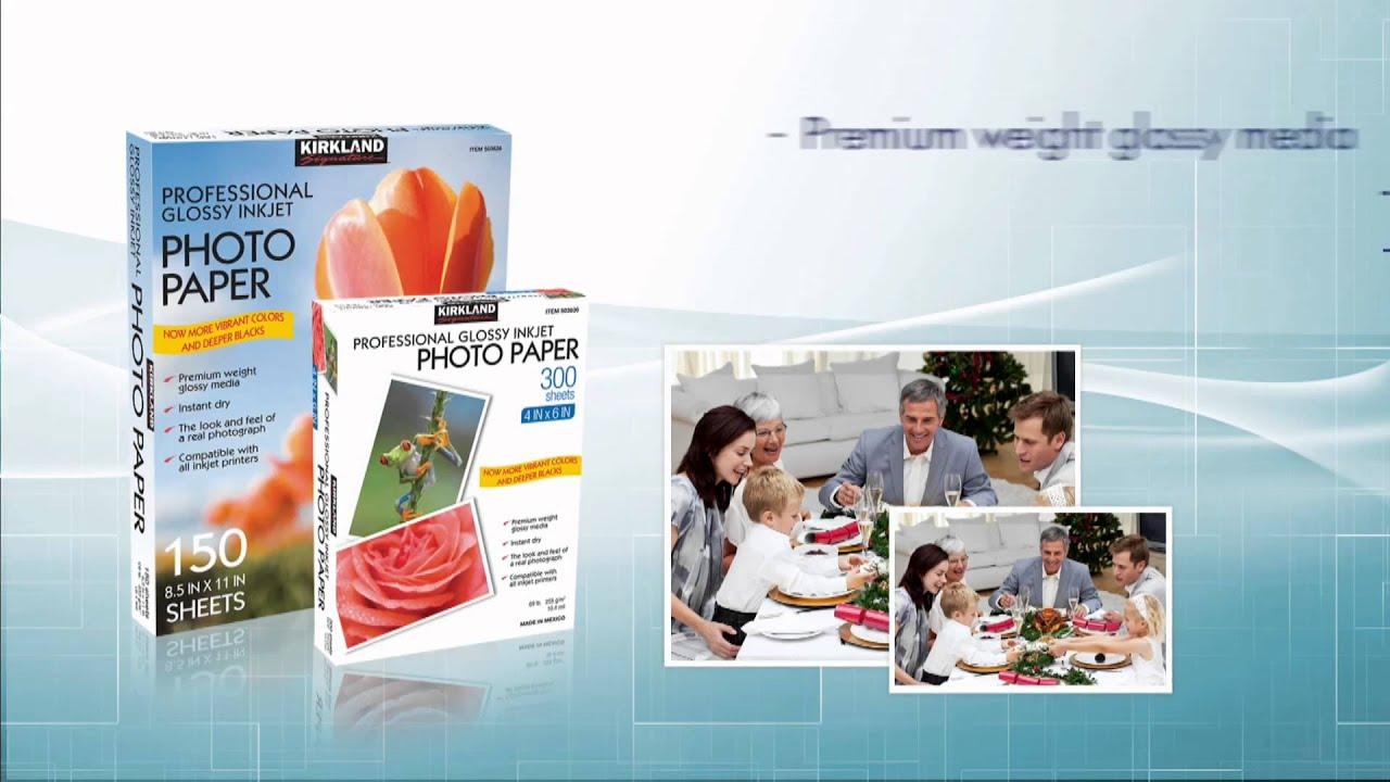 buy cheap inkjet photo paper online - kirkland glossy cheap inkjet