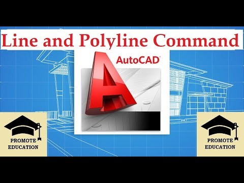 How to draw line and poly line - Auto CAD Basics - #02 Tutorial
