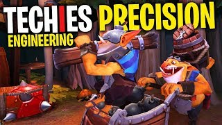 Precision Techies Engineering - DotA 2 Funny Moments