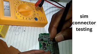Sim connector testing!how to sim connector testing.