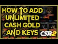 How To Add Unlimited Cash, Gold & Keys To CSR2 2020