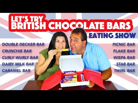 HAWAII COUPLE TRY BRITISH CHOCOLATE CANDY   EATING SHOW