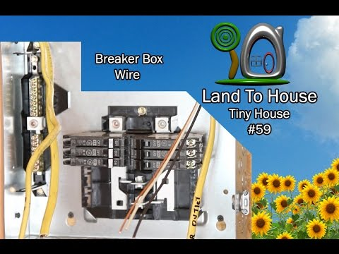 tiny house 59 install breaker box wire youtube. Black Bedroom Furniture Sets. Home Design Ideas