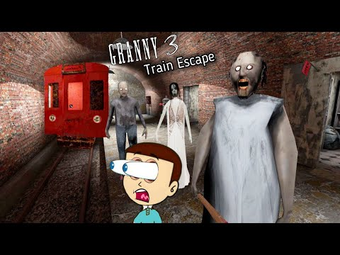 Granny 3 : Train Escape - New Ending | Shiva and Kanzo Gameplay