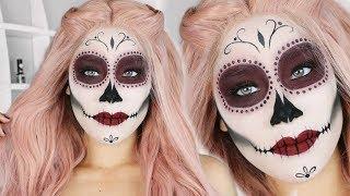 EASY Sugar Skull Makeup Tutorial | SUBTITULOS