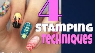 4 Different Nail Stamping Techniques!