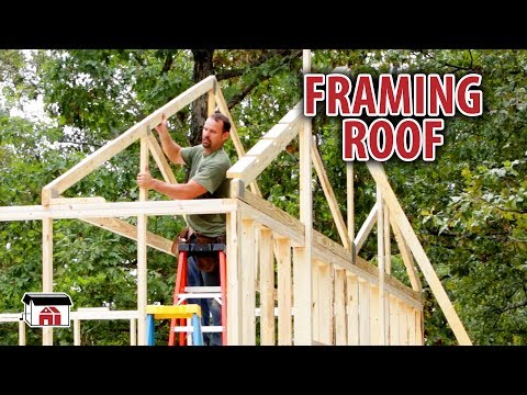 Framing The Roof on our DIY Shop Building Kits