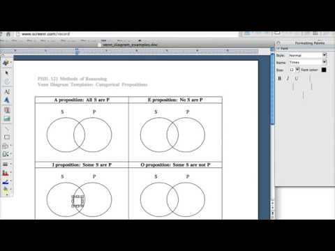 Drawing A Venn Diagram In Word Youtube