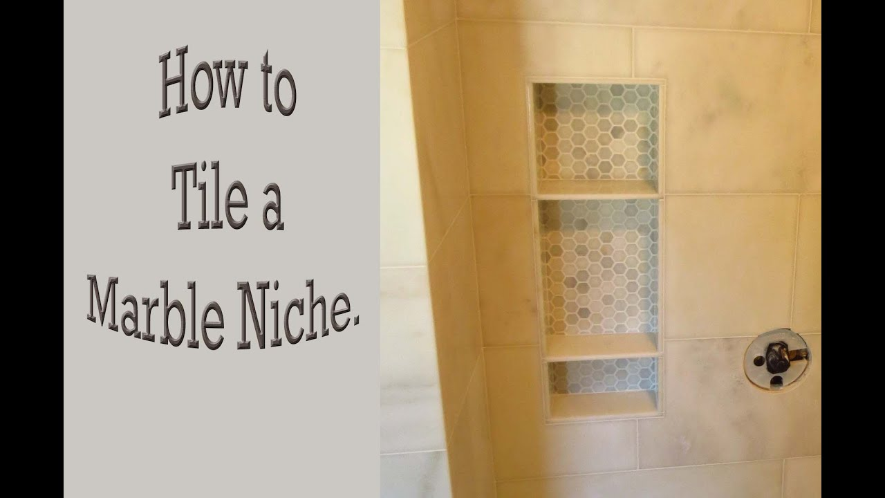 How to tile a marble niche - YouTube