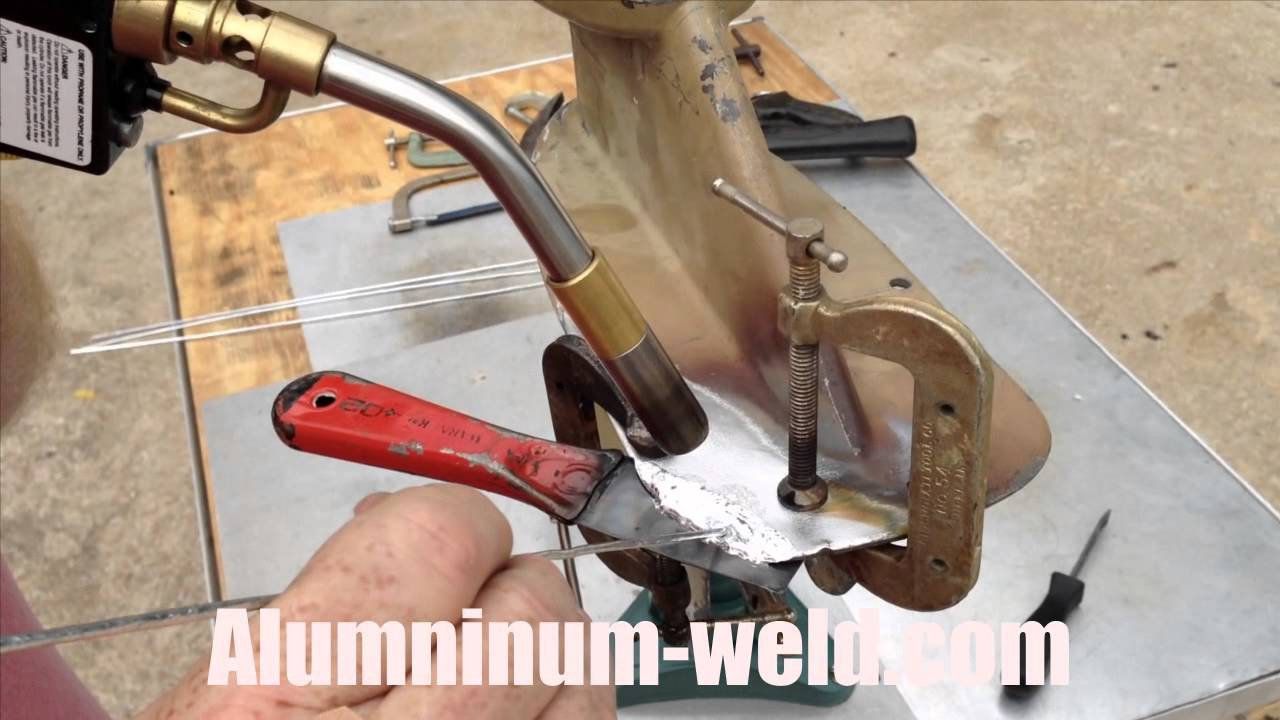 Aluminum boat skeg and lower unit repair youtube for Fin for boat motor