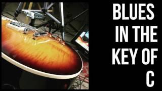 Blues Jam Track in de toonsoort C - 12/8 Tijd - een Gemiddeld Tempo