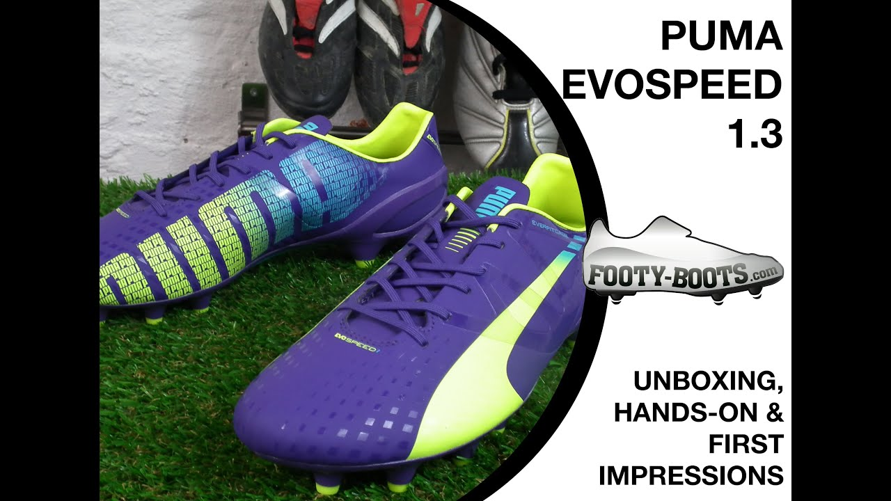 f3c38d15c PUMA evoSPEED 1.3 - Unboxing, Hands-On & First Impressions | Footy-Boots.com