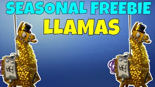 TWO FREE LLAMAS! | SEASONAL FREEBIE GOLDEN LLAMA! | FORTNITE SAVE THE WORLD