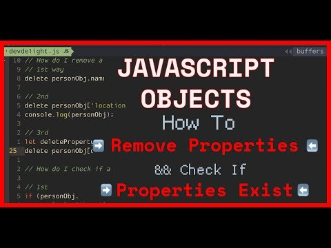 JavaScript Tutorial: 3 ways to remove property from an Object and check if property exists thumbnail