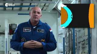 André Kuipers introduces SpaceShip Earth experiments Convection and Foam stability