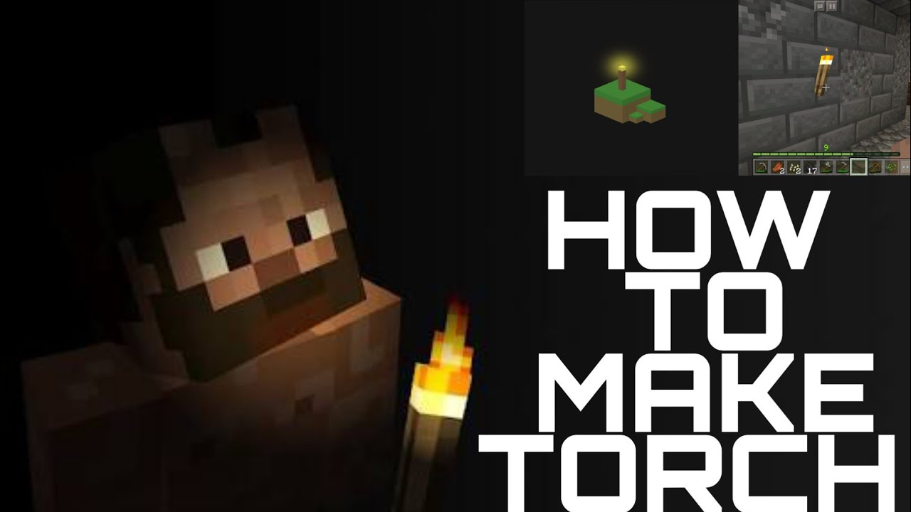How to make torch in Minecraft YouTube