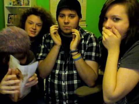Four girls finger paint