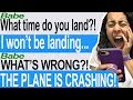 Texting My Boyfriend While MY PLANE IS CRASHING! (Hooked/Tap | In Flight)