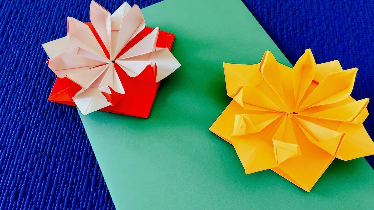 Поздравительная открытка из оригами, рисунок для