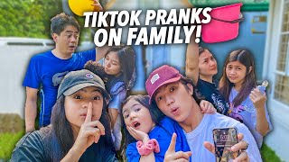 TESTING Viral TikTok PRANKS On FAMILY!! (Laughtrip Si Ma!) | Ranz and Niana