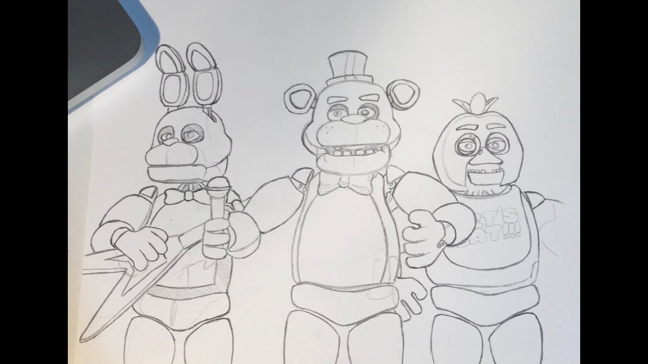 drawing fnaf poster youtube