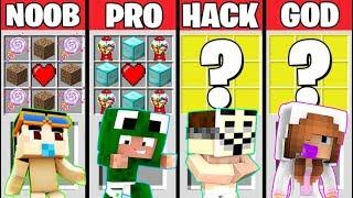 Minecraft Battle: SUPER BABY CRAFTING CHALLENGE - NOOB vs PRO vs HACKER vs GOD / Animation
